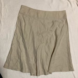 MERONA 100% Linen SKIRT    Size 14 side zipper